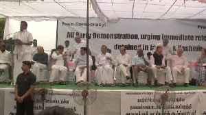 News video: Art 370: Opposition protest on J&K netas' detention, Chidambaram Jr attends