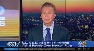 Thunderbirds Flyover Today Over Hudson River [Video]