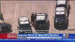 Deputy Walking To Car At Lancaster Sheriff's Station Shot In Shoulder [Video]