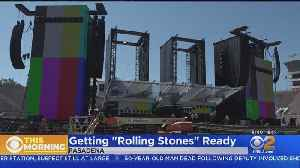 Rose Bowl Gets Ready For The Rolling Stones [Video]