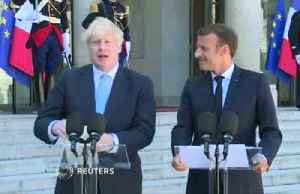 Macron meets Johnson, while Pound recovers slightly on backstop hopes [Video]