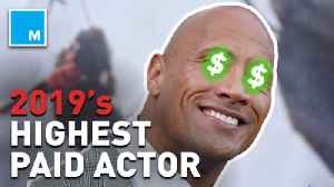 News video: Dwayne 'The Rock' Johnson named highest paid actor of 2019 on 'Forbes'