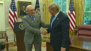 President Trump presents Medal of Freedom to Bob Cousy [Video]