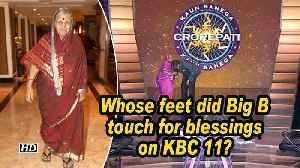 Whose feet did Big B touch for blessings on KBC 11? [Video]