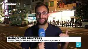 Hong Kong protesters form human chain across city [Video]
