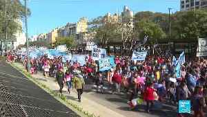 Hundreds of Argentinians take to the street to call for economic relief [Video]