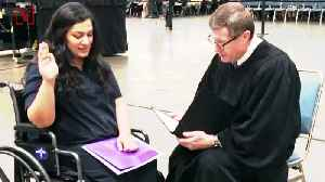Judge Does Impromptu Citizenship Oath For Pregnant Woman Having Contractions [Video]