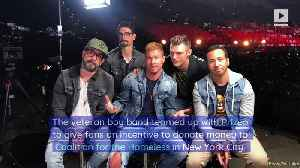 Backstreet Boys Launch Campaign to Fight Homelessness in NYC [Video]