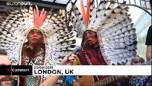 Indigenous protesters and environmental activists call to protect rainforest [Video]