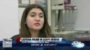Listeria in leafy greens [Video]