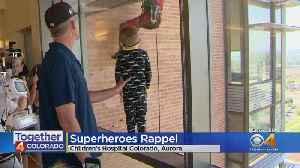 Superheroes Rappel To Meet Children's Hospital Patients [Video]
