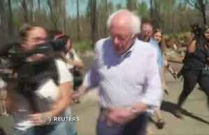 Sanders tours wildfire damage in CA [Video]