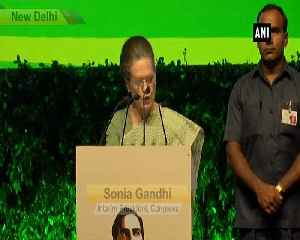 Rajiv Gandhi never used power to create atmosphere of fear Sonia Gandhi [Video]