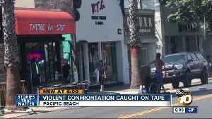 Violent Pacific Beach confrontation between homeless man, worker caught on tape [Video]