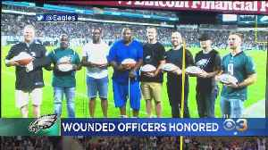 Eagles Honor Philadelphia Police Officers Shot In Standoff [Video]