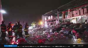 Severe Weather Causes Building To Partially Collapse [Video]