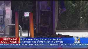 Danvers Police Search For Driver Who Hit Gas Pump, Sparking Fire [Video]