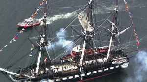 Raw Video: U.S.S. Constitution Fires Cannons [Video]