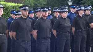 Police officers and family fall silent to remember PC Andrew Harper [Video]