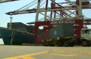 News video: Stocks fall as Trump issues higher tariff threat