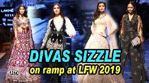 News video: Bollywood DIVAS SIZZLE on ramp at LFW 2019