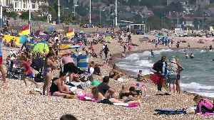 News video: Britain hits beach to bask in bank holiday sun