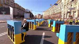 Yellow and blue abound as Ukraine celebrates its independence [Video]