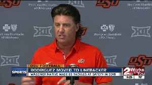 Mike Gundy won't name starting QB for opener against Oregon State; Malcolm Rodriguez moves from Safety to Linebacker [Video]