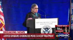Justice Ginsburg underwent cancer treatment again [Video]