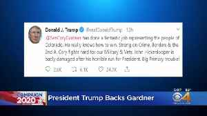 Sen. Cory Gardner Gets Support In Trump Tweet [Video]