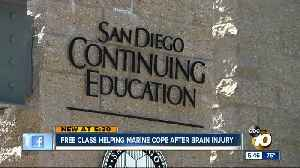 Free class helping San Diego Marine cope after brain injury [Video]