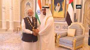 News video: PM Modi conferred with UAE's highest civilian award by Crown Prince