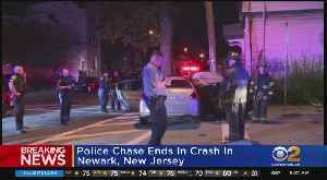 Police Chase Ends In 2-Vehicle Crash In Newark, New Jersey [Video]