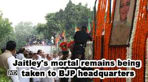 Jaitley's mortal remains moved to BJP headquarters [Video]