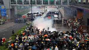 Latest Hong Kong protests end in clashes and tear gas being fired [Video]