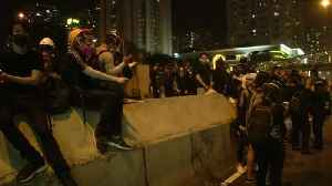 Hong Kong police use tear gas to break up protests [Video]