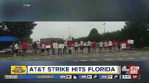 AT&T workers across the Southeast strike, claiming unfair labor practices [Video]