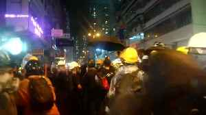 Hong Kong police fire live shots and water cannon [Video]