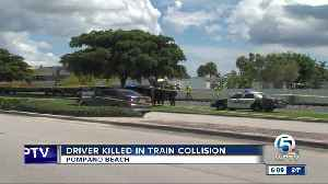Vehicle collides with train in Pompano Beach, 1 dead [Video]