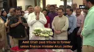 Amit Shah, JP Nadda pay tribute to late Arun Jaitley [Video]