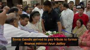 News video: Congress leaders pay tribute to Arun Jaitley