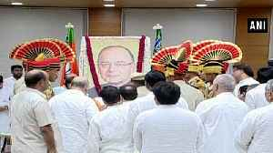 Jaitley's mortal remains brought to BJP office, leaders pay last respect [Video]