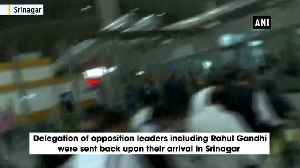 News video: Opposition leaders' visit to JK just a political action Governor Malik