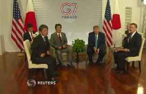 Trump, Abe agree on principles of trade deal at G7 [Video]
