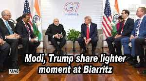 Modi, Trump share lighter moment at Biarritz media briefing [Video]
