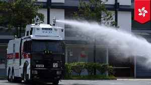 News video: Hong Kong police use water cannons on protesters