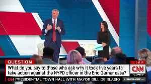 NYC Mayor de Blasio heckled over Eric Garner case [Video]