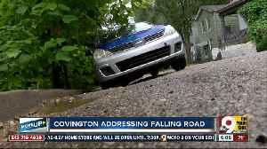 Covington street sinks 4 feet on one side, plan to fix coming soon [Video]
