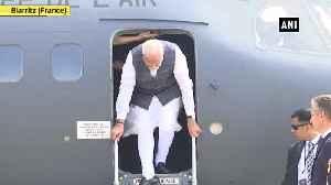 News video: G7 Summit PM Modi arrives in France Biarritz