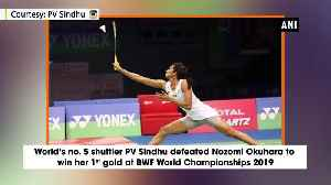 PV Sindhu creates history becomes first Indian to win BWF World Championship [Video]